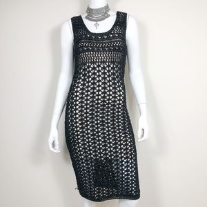 F1-3: Rachel Roy black knit sleeveless dress small
